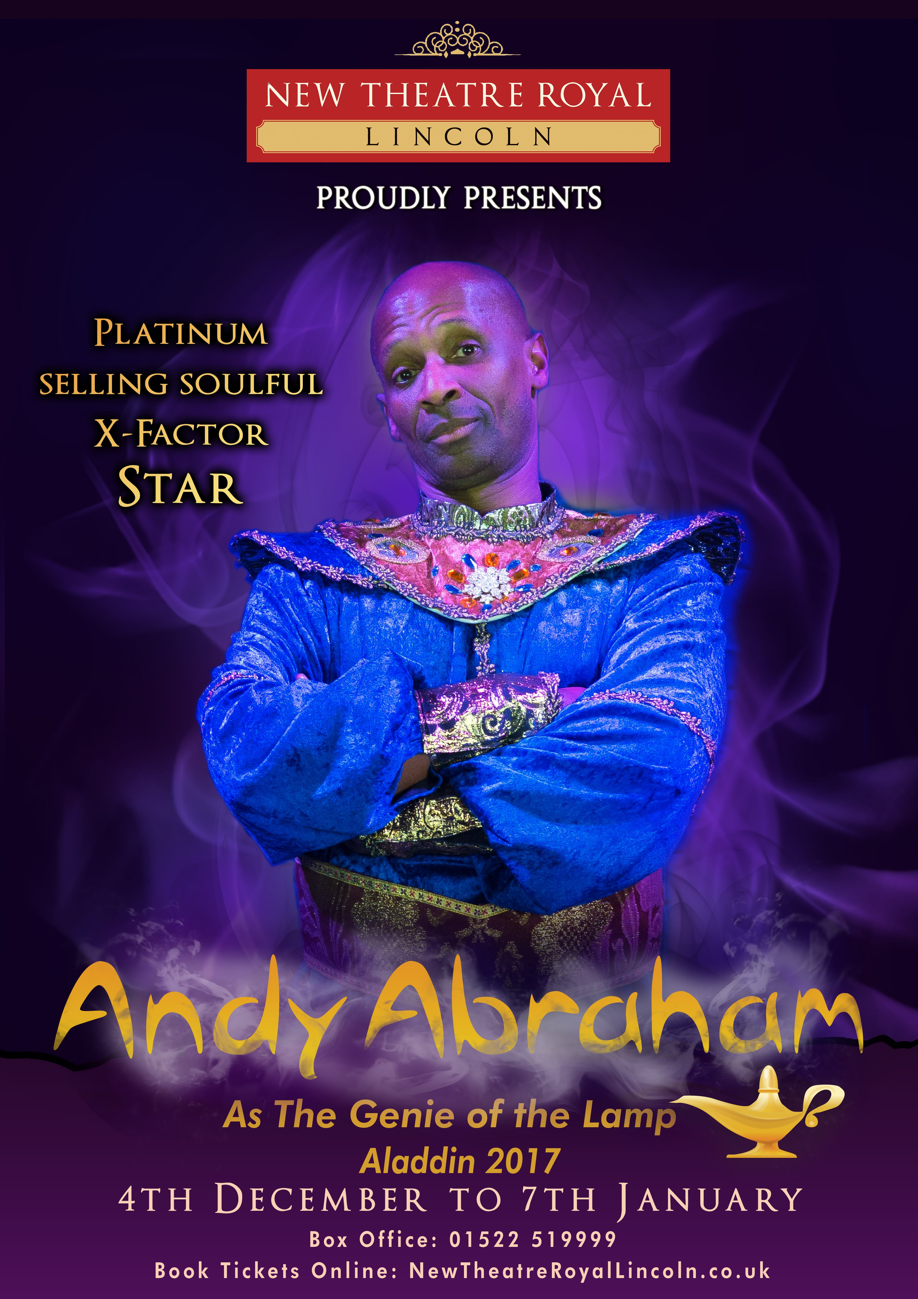 Andy Abraham As The Genie Of Lamp Alessandro Lubrano Aladdin